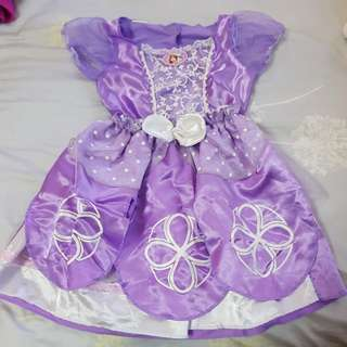 Sofia the first princess dress sz 4-6x