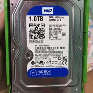 1TB HDD WD BLUE (FREEBIES 2PCS BNEW LED LIGHT)