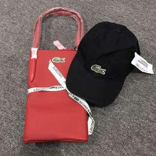 Lacoste Bag & Cap Set