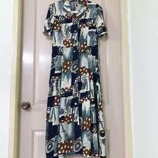 Vintage Retro Midi Dress