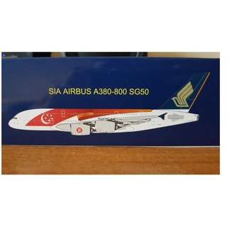 Singapore Airlines A380 (SG 50 Livery) Model Plane