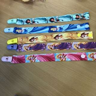 Clearance Pacifier Clip handmade disney princess designs belle jasmine rapunzel aurora cinderella