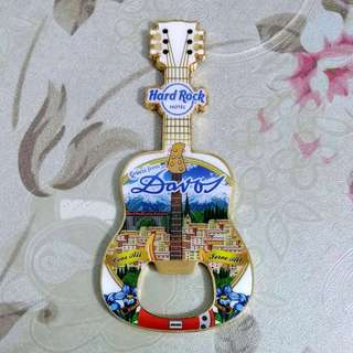 Hard Rock Hotel 'Bottle Opener' Guitar Magnet