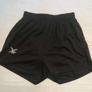 Black FBT shorts straight cut