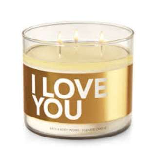 Bath & Body Works I Love You 3-wick candles