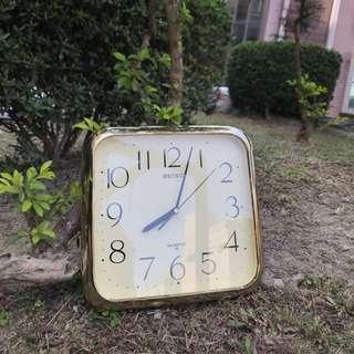 🚚 「早期精工SEIKO 老時鐘正常可使用」  早期 古董 復古 懷舊 稀少 有緣 大同寶寶 黑松
