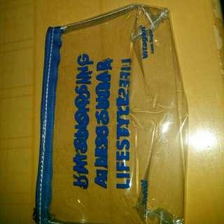 A zipped pencil case