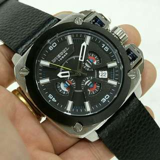 Jam Tangan Pria Diesel Leather Super Premium
