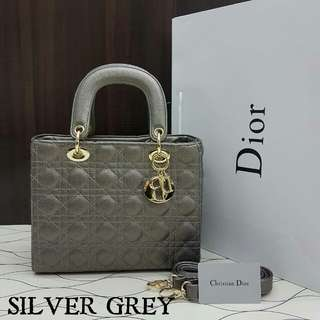Lady Dior Medium Silver Grey Color