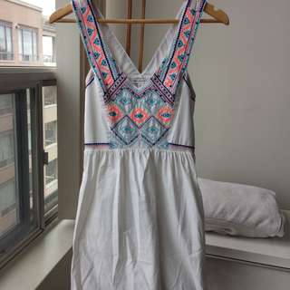 American Eagle White Sun Dress