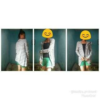 Stripe cardigan (freeong jabodetabek)
