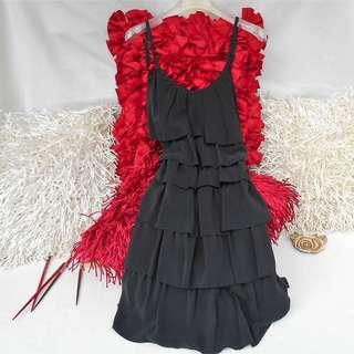 LES PETITES PARIS Little Black Dress LBD - ALMOST NEW