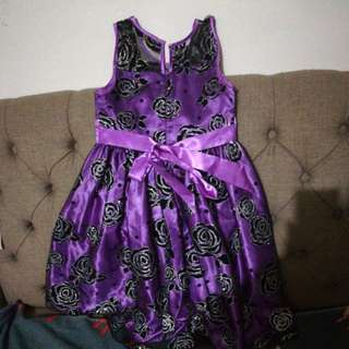 Formal dress. Black and purple