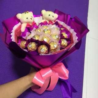 Bear & Ferrero Bouquet