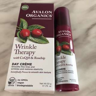 (50g) BNIB Avalon Organics Wrinkle Therapy