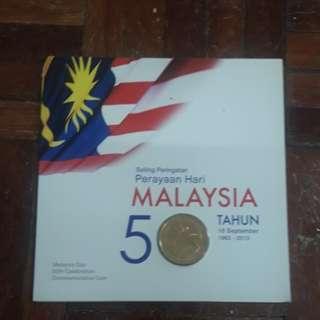 Malaysia Day 50th Celebration Commemorative Coin