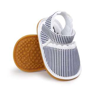 🐰Instock - stripe crib shoes, baby infant toddler girl children glad cute 123456789