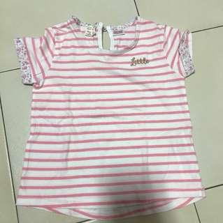 Zara pink striped tee