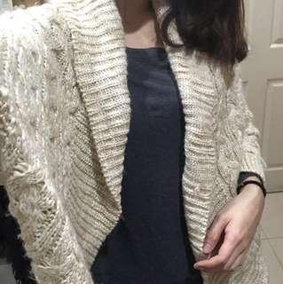 全新 日本購入米色針織外套