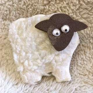 Wooly Sheep Fridge Magnet