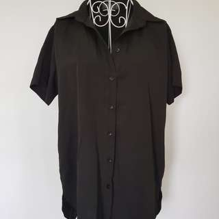Young Hungry Free oversized dress shirt