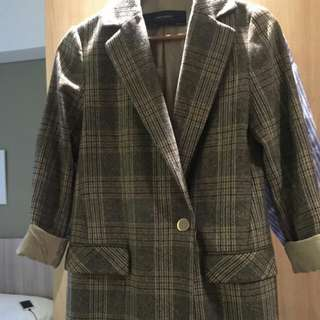 Zara long blazer size XS Fit To s