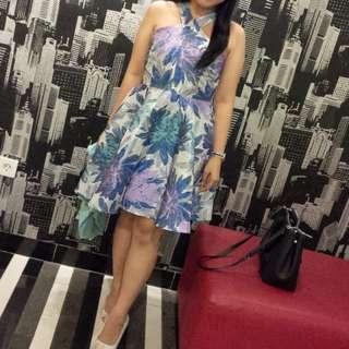 Dress floral blue