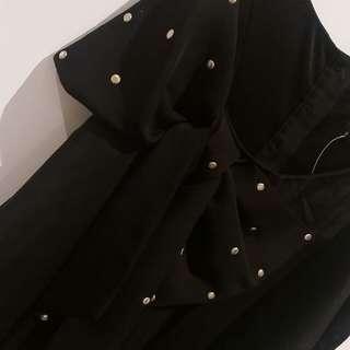 BNWT 49.95 Bardot Black Singlet with Bow detail. Size 8