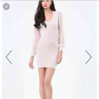 Pale pink Bebe Sweater Dress