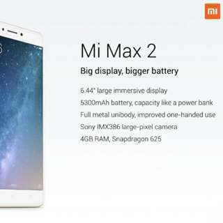 Mi Max 64G global version champagne gold.