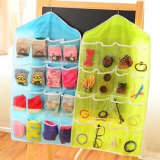 16 grid Hanging bag socks/underwear storage organizer