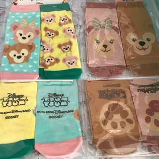 Last SET EACH Disney Hongkong Shellia May Duffy Bear Socks