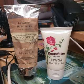 *Sale!* Marks & Spencer cream and Crabtree & Evelyn lotion