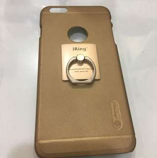 HardCase iphone 6plus Gold+iring