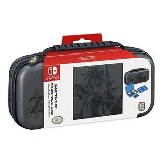 Nintendo Switch Game Traveler Deluxe Travel Case- Zelda Breath of the Wild – Link – Grey