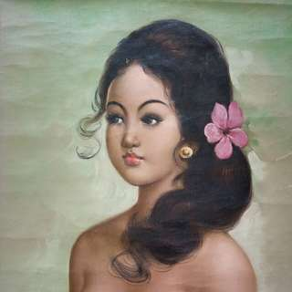 Balinese Girl Oil On Canvas size 59x44cm