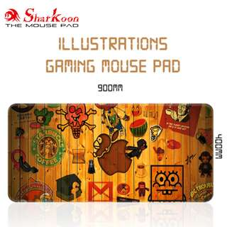 Illustrations Anti-Slip Gaming Mouse Pad / Mousepad
