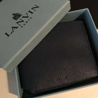 (New) Lanvin Billfold Wallet in Midnight Blue
