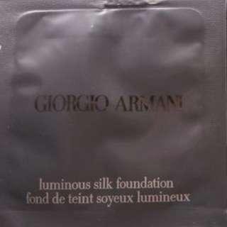 $10/2包/2pcs 全新包郵 SAMPLE Giorgio Armani fluid Luminous Silk Foundation 柔滑薄貼粉底液 色號#5.5 1ml