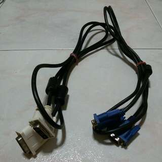 Hdmi & power cables & vga & dvi cables