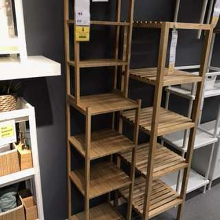 Bamboo shelving unit ikea