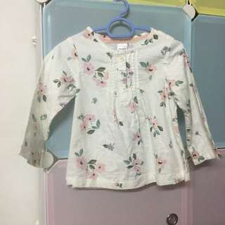Carter's Floral Top Long Sleeves