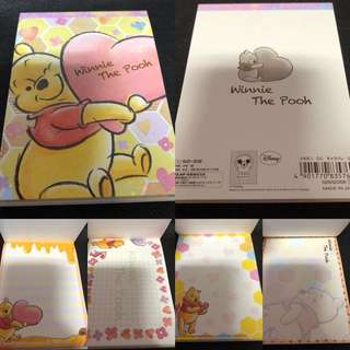 Disney Winnie The Pooh Memo Pad