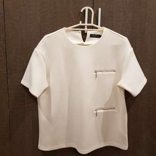 Off White Something Borrowed Boxy Top
