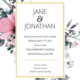 Invitation Cards for you!