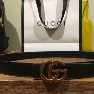 GUCCI belt + paper bag