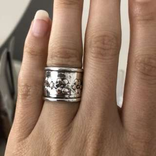 Flower Solid Sterling Silver 925 Ring