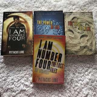 Lorien Legacies- I am Number Four series (Book 1-3 + Lost Files)