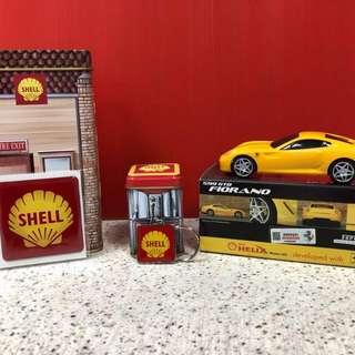 Original Ferrari & Shell vintage tins