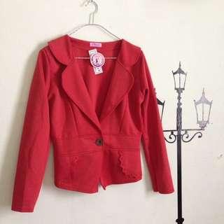 NEW! blazer merahbata bhn wedges